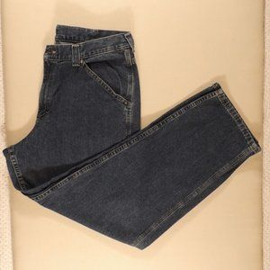 Lee Dungarees Men Blue Jeans Carpenter Size 34/30